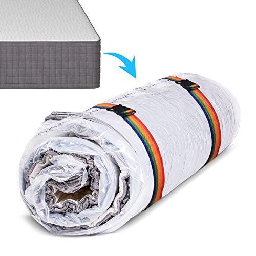 Sacco sottovuoto per materasso per stoccaggio/spostamento, 80% comprimere vuoto Sigillo Borsa materasso a doppia cerniera a tenuta stagna & sigillabile…
