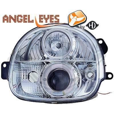 4480380, 1 paar Angel Eyes koplampen chroom voor Twingo van 1993 tot 2007