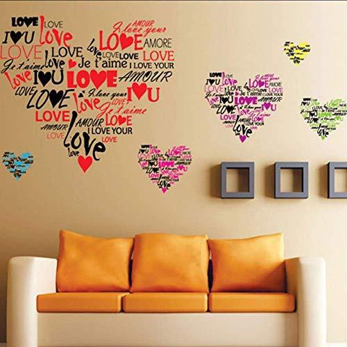 Wandaufkleber Abnehmbar Die Süße Liebe Buchstäblich Emoji Aufkleber Schlafzimmer Pegatinas De Pared Art Vinyl Wandaufkleber Home Decor Wandtattoos 120 * 75Cm -