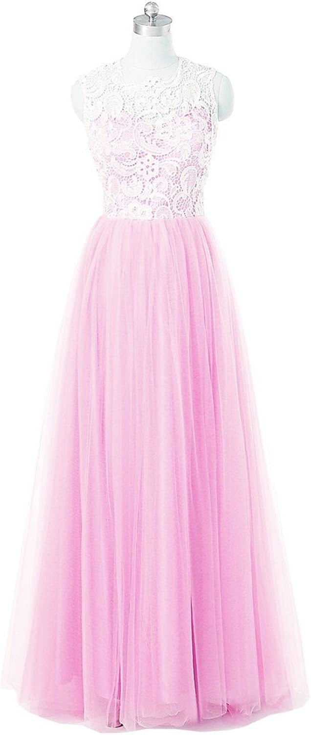 Kingbridal reg; Women's Tulle Long Prom Dresses Bridesmaid Gowns with Lace