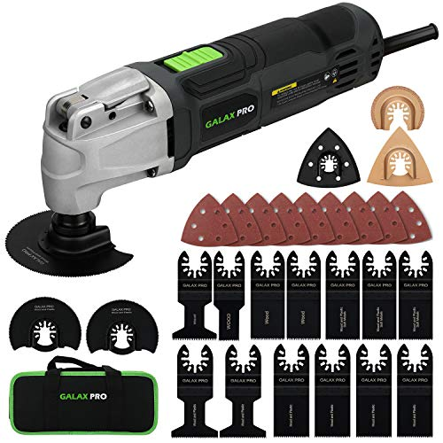 GALAX PRO 2.4Amp 6 Variable Speed Oscillating Multi-Tool Kit with...