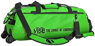 Vise Clear Top 3 Ball Tote Roller Bowling Bag- Green