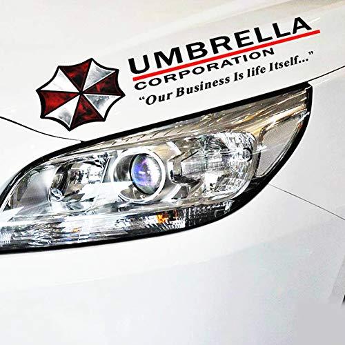 Z&LEI Umbrella Corporation Auto-Aufkleber, Augenbraue Lichter Reflective Auto-Aufkleber Aufkleber für Audi A3 Honda Hyundai Kia 2 BMW E90,Schwarz