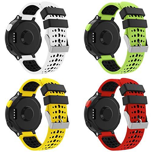 YPSNH Compatible para Correa Forerunner 235 Reemplazo Suave Silicona Deportiva Accessorios de Reloj Pulsera Forerunner 235 Ajustable para Forerunner 235/220/230/620/630/735 Smart Watch …