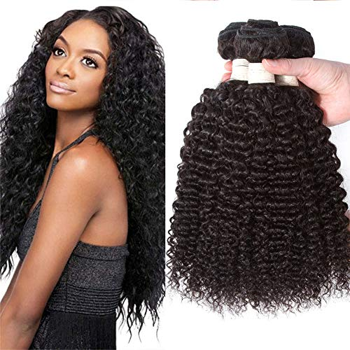 10A Malaysian Curly Virgin Hair 3 Bundles 100% Human Hair bohemian curly Unprocessed Kinkys Curly Hair Weave Extensions For Black Women Natural Color mixed length (12 14 16)