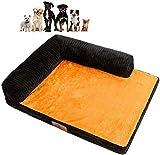 Jilisay Orthopädische-Hundebett, Plüsch weiche Hundematte Großes Hundebett Herausnehmbare waschbare Chaise Lounge Pet Sofa Kennel Corner Couch-c 100x75x8cm (39x30x3in)