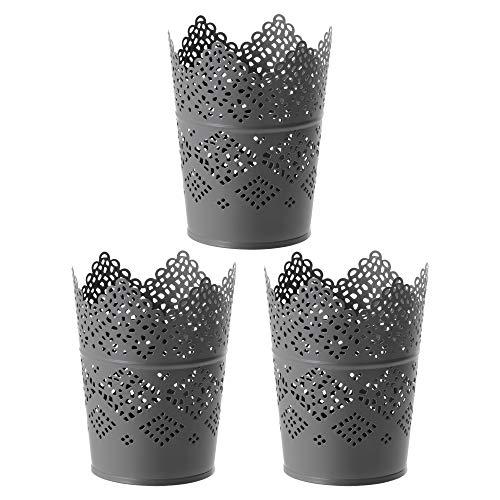 IKEA SKURAR Kerzenhalter, grau, 11 cm, 3er Set