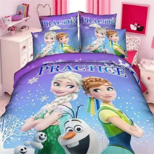 Disney cartoon bevroren Elsa beddengoedsets enkele twin maat 2/3/4 stuks prinses anna meisjes kinderen baby's room decor 3d beddengoed beddengoed 200 x 230 cm.