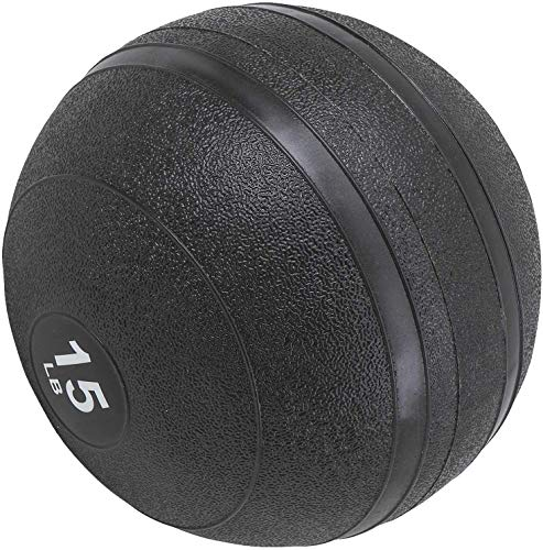 PanAme Slam Ball, Medicine Balls, Workout Weight Ball, Dead Weight Slam Ball for Fitness Gym Exercise, 15 lbs, Black