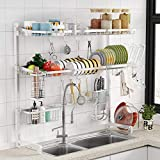 Over the Sink Dish Drying Rack -1Easylife 3 Tier Stainless Steel...