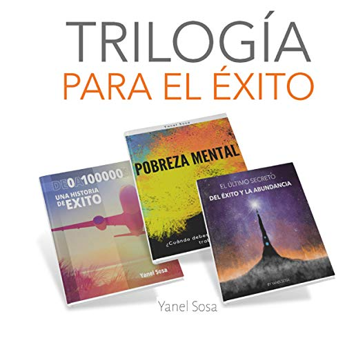 Diseño de la portada del título Trilogia Para El Exito