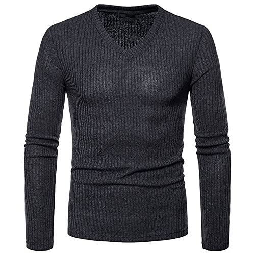 Camisa Delgada del Cuello de los Hombres Masculino Negro Blanco Gris Slim fit de