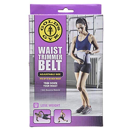 Gold's Gym Waist Trimmer Belt - Adjustable Size fits up to 50 inch Waist Trims.
