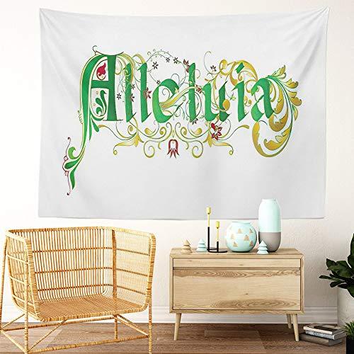 Y·JIANG Tapiz de resurrección de Pascua en un estilo medieval, tapiz grande decorativo para dormitorio de casa, manta ancha para colgar en la pared para sala de estar, dormitorio, 152,4 x 127 cm