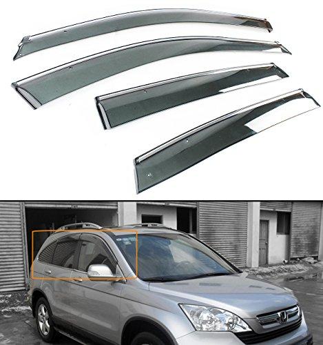 Auto Ventshade 194655 In-Channel Ventvisor Side Window Deflector 4-Piece Set for 2007-2011 Honda CR-V