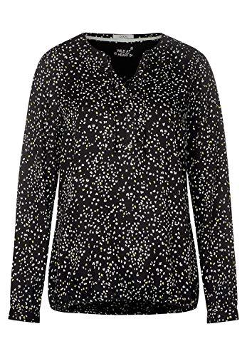 CECIL Damen 341697 Bluse, Mehrfarbig (Black 30001), Large (Herstellergröße:L)