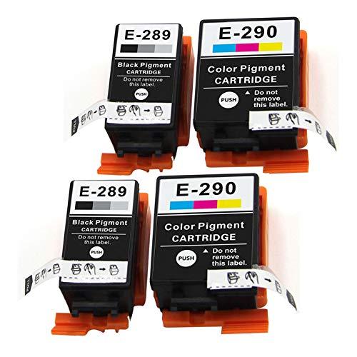 Adecuado para EPSON T289 T290 Cartucho de reemplazo WF-100 Impresora de tinta de tinta de color negro Tinta de cartucho de tinta Cartridge set