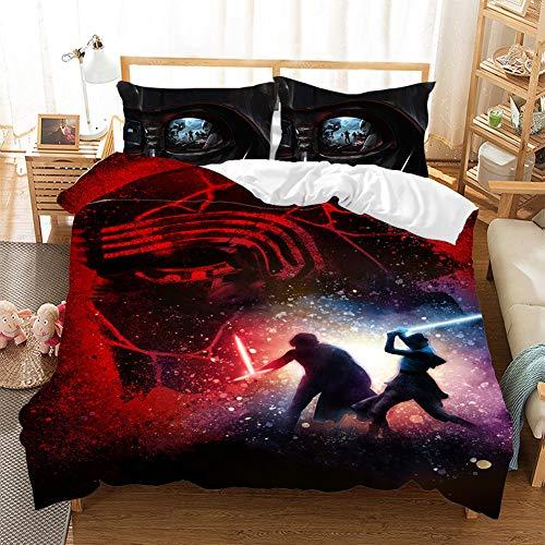 HKYH Guerres de las Estrellas - Juego de cama infantil con impresión 3D, diseño de Star Wars