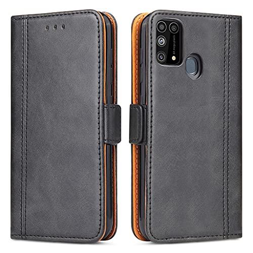 Bozon Handyhülle für Galaxy M31 Hülle, Samsung M31 Handytasche Lederhülle Schutzhülle Klapphülle Leder Tasche mit Standfunktion & Kartenfächer für Samsung Galaxy M31 (Schwarz)