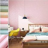 Adesivi mobili adesivi autoadesivi carta da parati 0.61 * 5M adesivi murali pasta film per soggiorno TV sfondo muro (rosa)