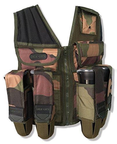 PAINTBALL Weste deniable-ops (den-ops) Tactical Assault Woodland Camo Paintball Scenario mil-sim Airsoft Military Operationen Geschirr