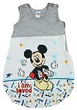 Disney Baby ärmelloser Sommer-Schlafsack in Größe 56 62 68 74 80 86 92 98 104 110 DÜNN Nicht gefüttert 100% Baumwolle, für Jungen mit Mickey Mouse Farbe Modell 3, Größe 56/62