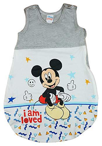 Disney Baby ärmelloser Sommer-Schlafsack in Größe 56 62 68 74 80 86 92 98 104 110 DÜNN Nicht gefüttert 100% Baumwolle, für Jungen mit Mickey Mouse Farbe Modell 3, Größe 92/98