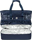 Beach Bag for Men and Women with Top Zipper and Waterproof Cooler - Extra Large Beach Bag Cooler Mesh Tote Bag or Pool Bag [Combo]