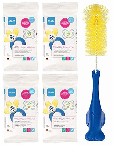 MAM Hygienetücher 4 Packungen a 24 Stück (4 x 24 Stück)