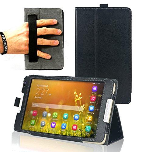 Navitech Schwarzes Hülle Cover mit Multi Stand Funktion für das Huawei MediaPad M1 8.0