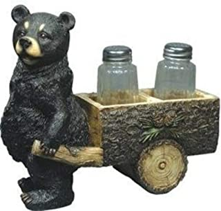 Ky & Co YesKela Beary Spice Bear Pulling Cart Salt and Pepper Shakers