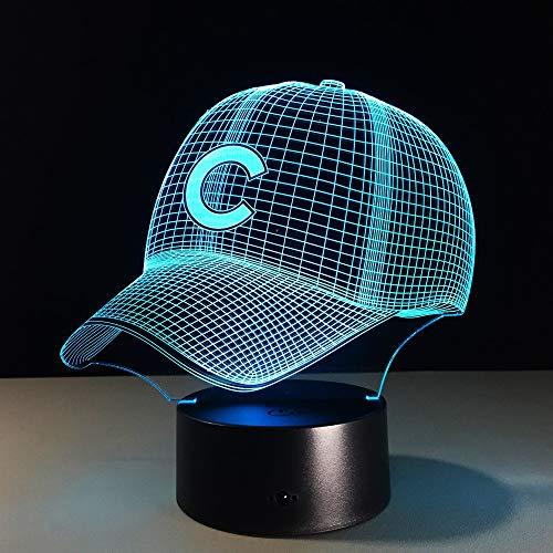 Hip Hop Ball Team Cap 5V oder American Ball Hut Hologramm Nachtlicht 3D LED Tischlampe Kinder Geburtstagsgeschenk Nachtzimmer Dekoration
