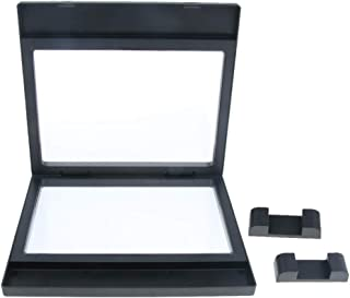 MagiDeal 3D Floating Jewelry Display Frame Case Box Coin Display Stand Rack Holder - 18x20cm