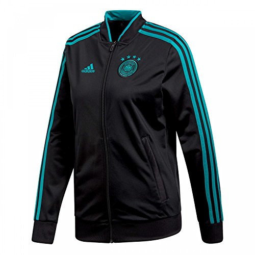 adidas Damen DFB Track Top Trainingsjacke, Black/EQT Green s16, M