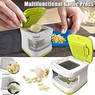 AMOYER Garlic Ginger Grinder Mincer Press Peeler Crusher Twist Squeezer Kitchen Tool