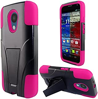 LF 3 in 1 Bundle - Hybrid Dual Layer Case with Stand, Stylus Pen & Screen Wiper for Motorola Moto G 5