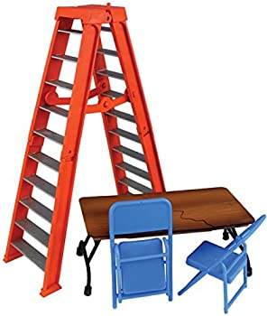 Wrestling Ultimate Ladder & Table Playset  Orange  - Ringside Collectibles Exclusive WWE Toy Action Figure Accessory Pack