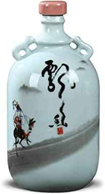 Botella de vino de cerámica Jingdezhen, botella vacía, tarro de vino sellado, juego de vino de regalo, tarro de vino, jarra a