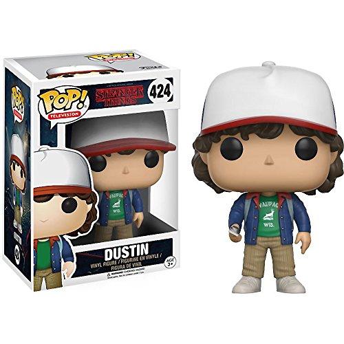 Funko Dustin: Stranger Things x POP! Figura de vinilo de TV y 1 POP! Compatible con PET Protector Gráfico [#424 / 13323 - B]