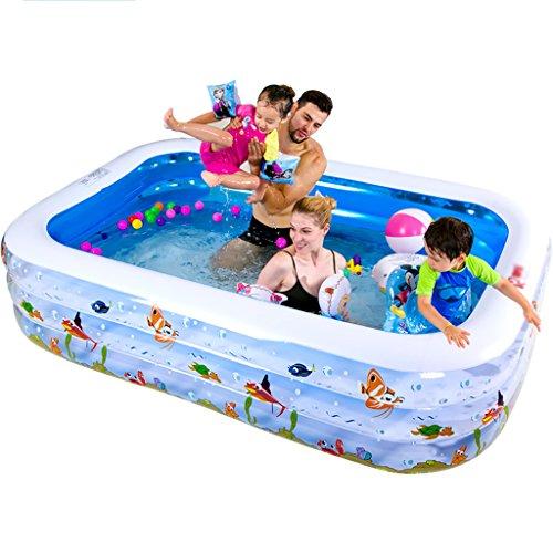 Baignoires Jacuzzis et balnéothérapie Piscine gonflable de luxe de piscine de PVC de piscine rectangulaire 180 * 140 * 60CM (Color : Blue, Size : 180 * 140 * 60cm)