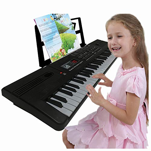 Semart piano keyboard for kids 61 key electric digital music keyboard for beginner portable piano w/LCD display microphone USB cable