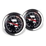 Schramm 2 piezas de carne termómetro medidor de temperatura termómetro de...