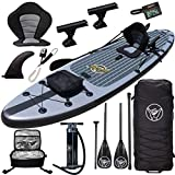 """Premium Inflatable Stand Up Paddle Board - 11'6"""" Hippocamp - 11'6"""" x 32"""" x 6"""" w/Fishing & Touring..."""