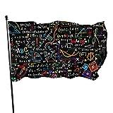 ALLdelete# Flags Saisonale mathematische Formeln und Operationen Gartenflagge, Hofflagge - 3 x 5 Fuß