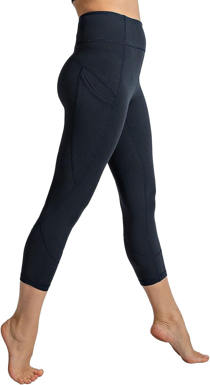 Rae Mode Capri Wide Waistband Yoga Leggings Pants with Side Pocket Plus