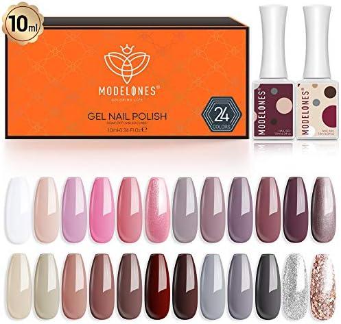 Gel Nail Polish 24 Colors 10 ML Pink Grays Browns Nude Gel Polish Soak Off Nail Gel Polish Kit product image
