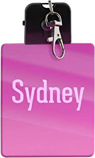 Sydney - First Name LED Key Chain with Easy Clasp