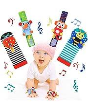 RXYYOS Baby Rattle Toy - Sonajeros para recién nacidos, 4 unidades, simpáticos animales de Developmental Toys para bebés de 0 a 12 meses