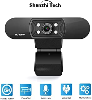 1080P Full HD Web Camera ShenzhiTech Webcam USB Computer Webcam with Microphone Auto Focus Webcam with Multifunctional Bas...
