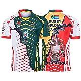 Maillot de Rugby, Maillot conjoint Champion de la Coupe du Monde 2019, Afrique du Sud T-Shirt édition Anniversaire à 7 Contre Champion (S-XXXL)-L